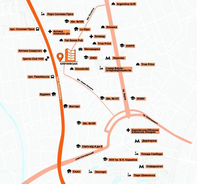 карта окружения объекта